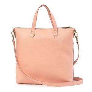 Madewell The Zip Top Transport Bag in Pink! NWT!